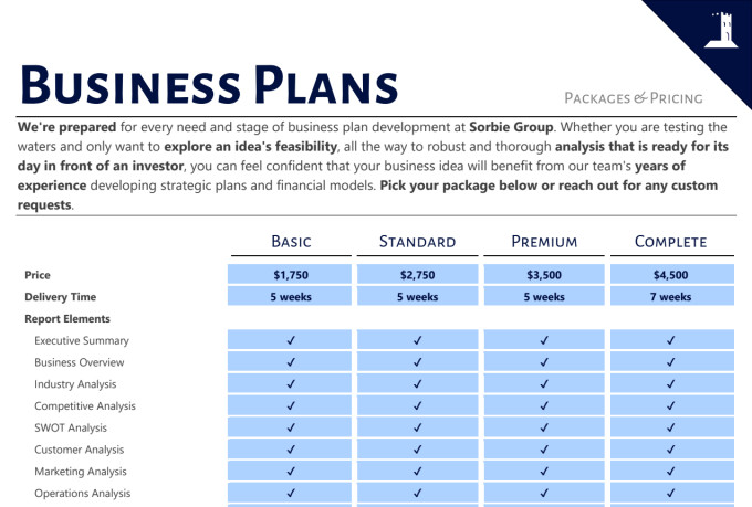We will develop and compose your investor ready business plan